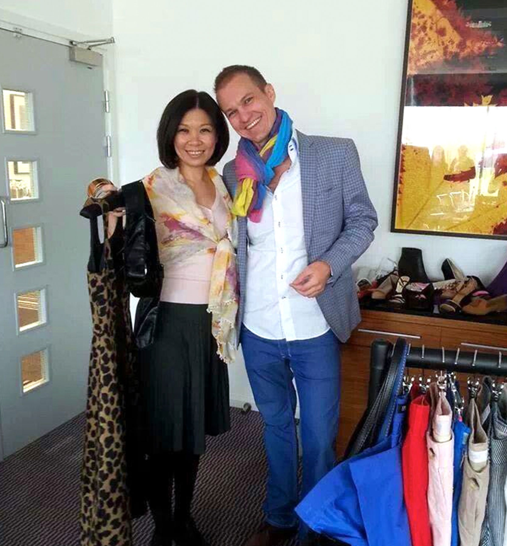 Pin Joue Chang from Malaysia and Pavol Cvik from Slovakia