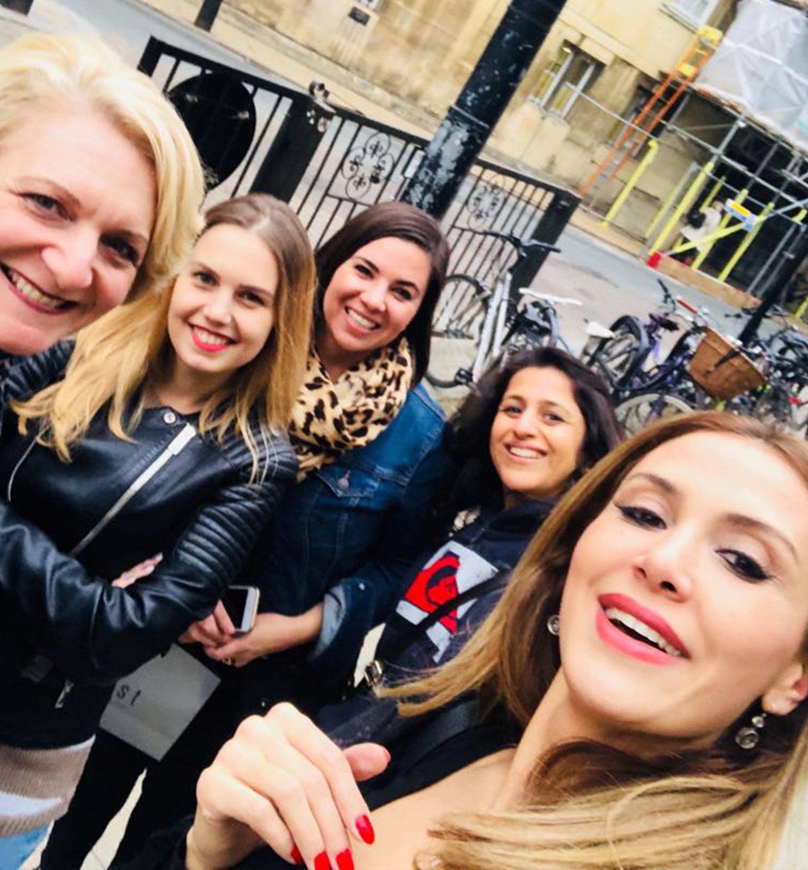 Style Coach students having fun in London - Selfie