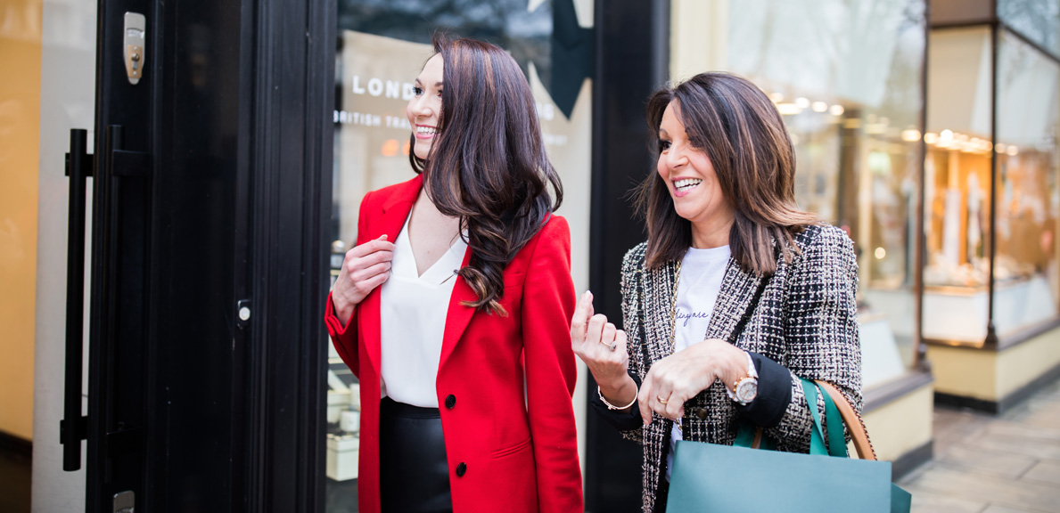Tracey Redmond & Kate Redmond Directors of the Style Coaching Institute out shopping